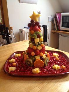 Xmas fruit tower