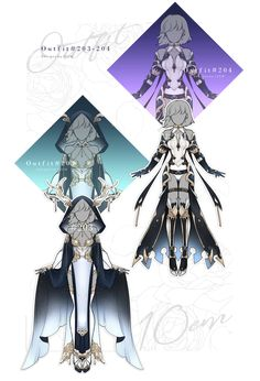 By on deviantart. Character Outfits, Character Art, Supernatural Outfits, Anime Warrior, Anime Dress, Fashion Design Drawings, Drawing Clothes, Character Design References, Anime Outfits