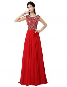 Exquisite A-line Jewel Floor-length Bridesmaid/Prom/Homecoming Dress With Beads
