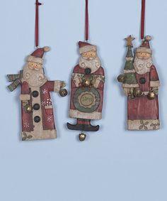 Love this Santa Ornament Set on #zulily! #zulilyfinds
