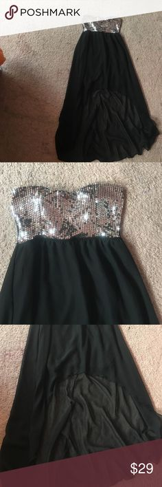 """A beautiful high/low dress The is a beautiful high low dress great for any type of """" formal"""" event at work or school Rue 21 Dresses Strapless"""