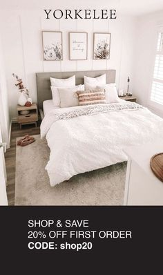 Use code; shop20 to get 20% off. Prints from $8.50 + cheap postage! Guest Bedrooms, Room Makeover, Room Makeover Bedroom, Bedroom Makeover, Home Bedroom, Bedroom Refresh, Bedroom Inspirations, Room Decor Bedroom, Bedroom Layouts