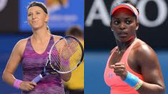 Different year, same result ... Sloane Stephens loses in straight sets to Victoria Azarenka .. The last American standing in the 2014 Australian Open has fallen to the Defending Champion Victoria Azarenka! ... Victoria made quick work of Sloane Stephens in straight sets to advance to the QFs. Sloane is now under the tuteage of Paul Annacone. Victoria's 2nd title defense still on course. 1/19/2014