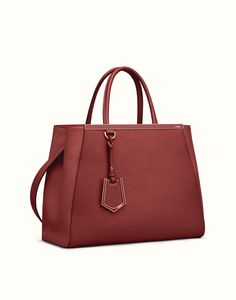 FENDI | REGULAR 2JOURS tote in red leather