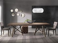 Extending rectangular table ZEUS | Solid wood table by Pacini & Cappellini