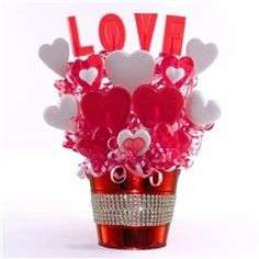 Valentine's Day Candy Bouquet Love Me Sweetly Lollipop