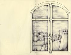 looking from a window above by andrea joseph's illustrations, via Flickr