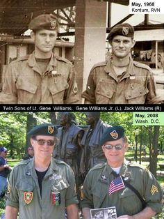 green berets vets then & now American Freedom, American War, American Soldiers, American History, Photo Vietnam, Vietnam War Photos, Special Ops, Special Forces, Usaf Pararescue