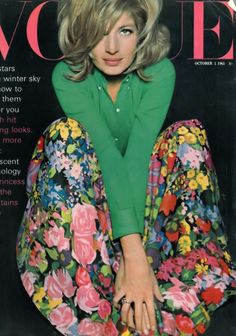 Monica Vitti, cover by David Bailey, Vogue UK, October 1, 1965