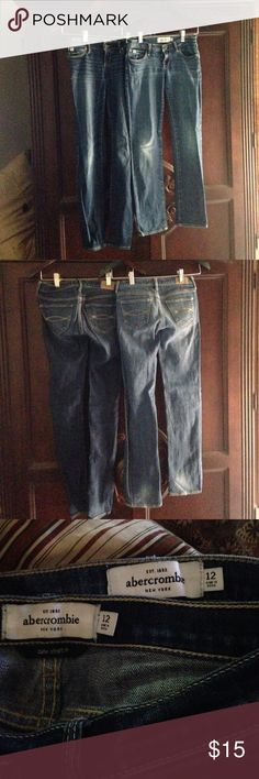 Abercrombie Kids jeans bundle Two pairs of Abercrombie Kids jeans. Both are Maddy style, cute stretch. Both in excellent used condition. Size 12 Abercombie Kids Bottoms Jeans