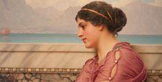 John William Godward | Victorian Neo-Classicist painter | Art in Detail | Tutt'Art@ | Pittura * Scultura * Poesia * Musica | John William Godward, Lawrence Alma Tadema, Dreadlocks, Victorian, American, Hair Styles, Beauty, Detail, Art