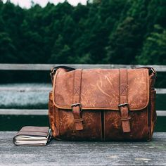 """""""Scratches and all My ONA bag goes with me just about everywhere""""   A beautifully aged Brixton messenger."""