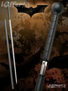 Hollywood Movie Bat Super Knob Stick Sword W/ Sheath