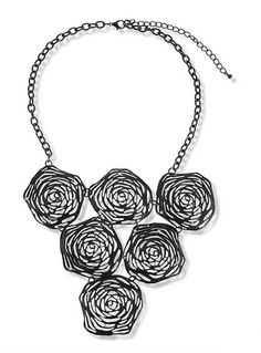 81430 Alloy Rose Statement Necklace