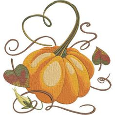 Season For Pumpkins - Kreations by Kara Custom Embroidery, Embroidery Thread, Machine Embroidery Designs, Thanksgiving Projects, History Page, Kara, Pumpkins, Free Design, Seasons