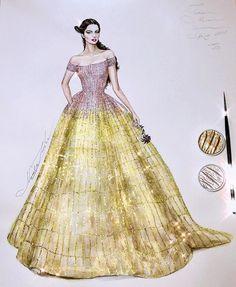 Zuhair Murad by NataliaZ Liu Grey Fashion, Love Fashion, Fashion Art, Fashion Flats, Fashion Design Drawings, Fashion Sketches, Fashion Illustrations, Wedding Dress Sketches, Fashion Drawing Dresses