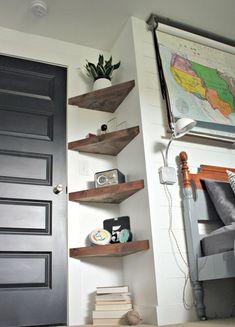 13 ideas for simple living room shelves DIY projects, ., 13 ideas for simple living room shelves DIY projects, Living Room Shelves, Decor, Home Diy, Bedroom Decor, Diy Home Decor On A Budget, Room Shelves, Home Decor, House Interior, Room Decor