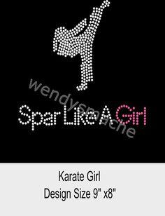 Women's Rhinestone Karate Girl Tshirt by WendysMache on Etsy, $16.99