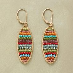 BANDED BRILLIANCE EARRINGS