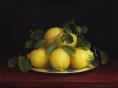 Lemons on Silver -  Trisha Hardwick