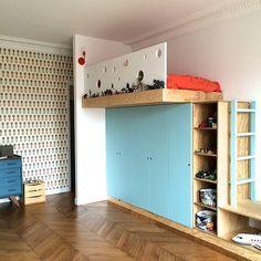 www.amcodeco.com | GRANDS ÂM Furniture Projects, Kids Furniture, Space Saving Furniture, Kid Spaces, Kids House, Boy Room, Kids Bedroom, Room Inspiration, Room Decor