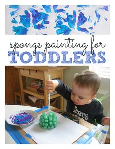 Sponge painting ... I cannot wait to become a Nana and experience creativity all over again with grandbabies!