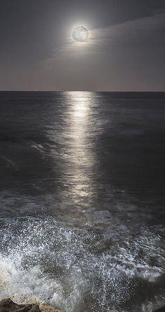 Moonlit ocean