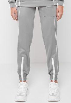 Zip Detail Neoprene Jumper - Grey   Manière De Voir Women's Sports Bras, Sports Luxe, Tracksuit Bottoms, Joggers Womens, Mens Activewear, Jumper, Lounge Wear, Sportswear, Menswear