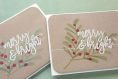 Holiday Card Series 2017 – Day 12 – Simple Stamping