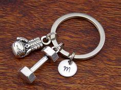 Monogram Keychain, boxing glove Key Ring, Boyfriend Gift Keychain, Custom Keychain, Personalized Keychain, Valentine Day Gift For Him by StampsINK on Etsy