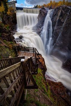 Waterfall Walkway, Quebec, Canada. Definitely something to see in person...