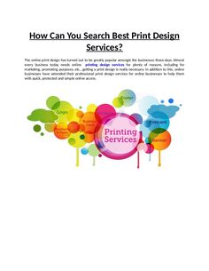 When it comes digital print design, then there are a lot of designs to choose from. Online print design is an advanced version of the conventional print design techniques