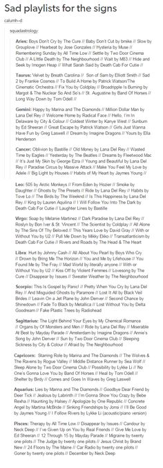 I listen to most of these songs as it is...