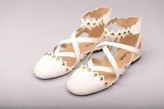 Flat white  #wedding #shoes
