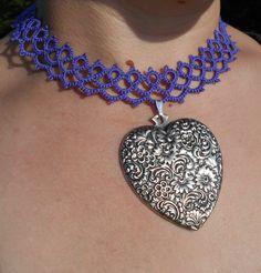 gypsy choker tatted choker bohemian necklace lace by MamaTats