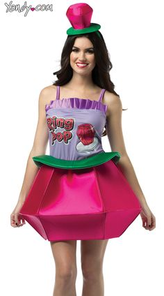 Pink Ring Pop costume to cute would so be this for Halloween lmao