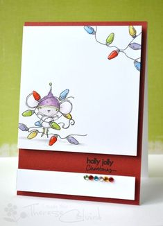 Card by Therese Calvird.  Stacey Yacula Studio Stamps from Purple Onion Designs.