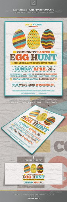 Easter Egg Hunt Flyer Template — Photoshop PSD #easter egg hunt #holiday • Available here → https://graphicriver.net/item/easter-egg-hunt-flyer-template/7090380?ref=pxcr