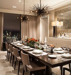 Brilliantly designed to fit your large family and friends in this phenomenal apartment in the sky thank you for sharing this amazing design by POWELL & BONNELL