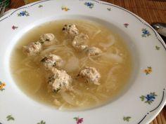 Hagymaleves húsgombóccal - Kókusz és tojás