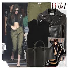 """""""1933. Celebrity Style: Kendall Jenner"""" by chocolatepumma ❤ liked on Polyvore featuring Oris, Vero Moda, Yves Saint Laurent, Elizabeth and James, Givenchy and Christian Louboutin"""