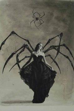 Retro Halloween, Halloween Costumes, Vintage Halloween Photos, Gothic Halloween, Halloween 2014, Halloween Spider, Halloween Pictures, Creepy Halloween, Fantasy Kunst
