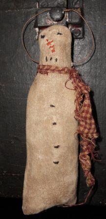 Primitive Christmas Simple Snowman Ornament epattern