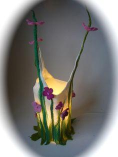 Tischlampen - Tischlampe'Spring' gefilzt,filz. - ein Designerstück von Filz-Art bei DaWanda
