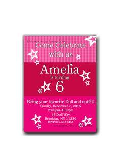 Huge Lot 90 American Girl Invitation Card Envelope Address Labels