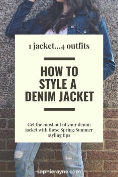 Finding items to wear with a denim jacket can sometimes be tricky. Here are 4 ways to style a denim jacket this Spring/Summer Denim Blog, Double Denim, Summer Tshirts, Jacket Style, What To Wear, Fashion Inspiration, Outfit Ideas, Spring Summer, Shades