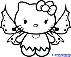 Раскраска Хэлло Китти на Хэллоуин | Hello kitty картинки ...