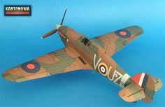 model Hurricane - kartonowa kolekcja