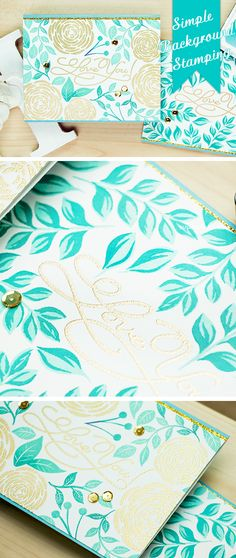 Simple Background stamping with Hero Arts You're So Lovely and Color Layering for You Flowers stamps.