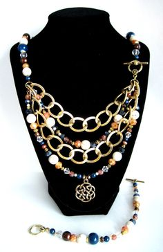 Once Upon a Time... Collection: Brave Necklace and Bracelet Set by HuntJewelz